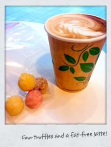 Iso rasvaton kahvi and truffles!